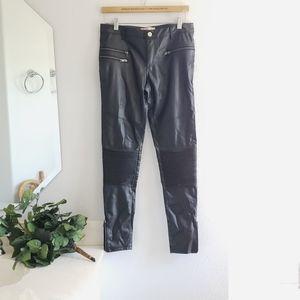 Kittenish Black Faux Leather Pants Size Small